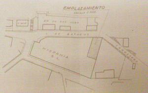 Plano del emplazamiento, 1940 (Archivo Municipal de Ferrol)